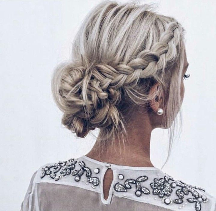 Cfh Care For Hair I Low Bun   Braided Bun   Hair In Braided Chignon Prom Hairstyles (View 10 of 25)