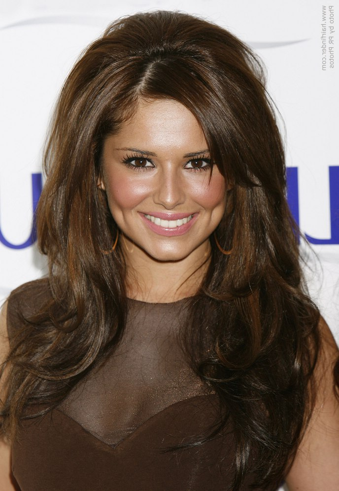 Cheryl Cole Wearing Her Long Hair With Volume In The Crown for Long Hairstyles With Volume