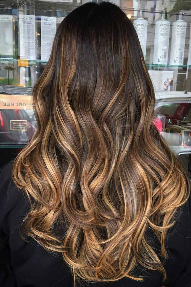 Chestnut Brown Color Hair 47 Highlighted Hair For Brunettes Long Pertaining To Highlighted Long Hairstyles (View 21 of 25)
