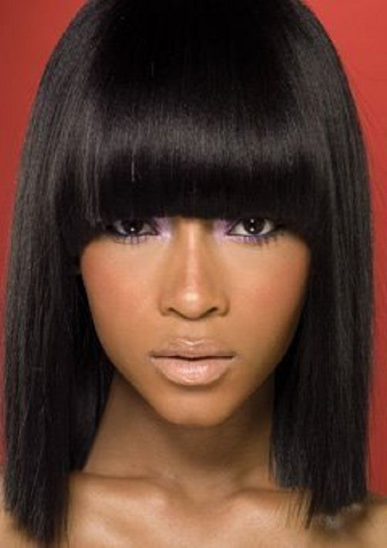 Featured Photo of Long Bob Hairstyles With Bangs Weave