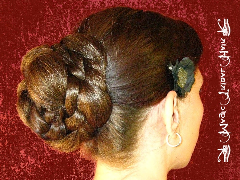 Chignon Custom Color Hair Bun Steampunk Bride Braided Updo | Etsy With Regard To Fishtailed Snail Bun Prom Hairstyles (View 23 of 25)