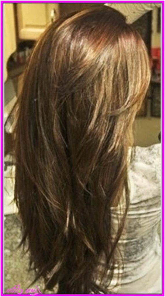 Choppy Long Layered Hairstyles Cool Long Choppy Layered Haircuts Intended For Long Hairstyles Back View (View 21 of 25)
