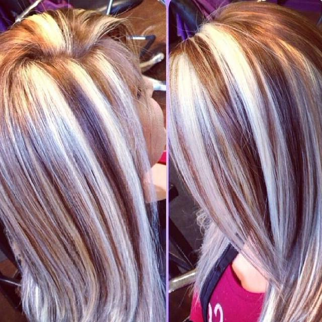 Chunky Highlights Lowlights | Hairstyles How To within Long Hairstyles Highlights And Lowlights