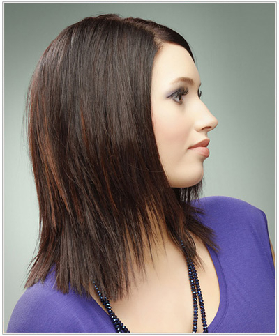 Chunky, Jagged Layers throughout Long Jagged Hairstyles