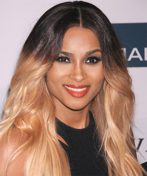 Ciara Casual Long Straight Layered Bob Hairstyle – Black And Blonde Within Ciara Long Hairstyles (View 8 of 25)