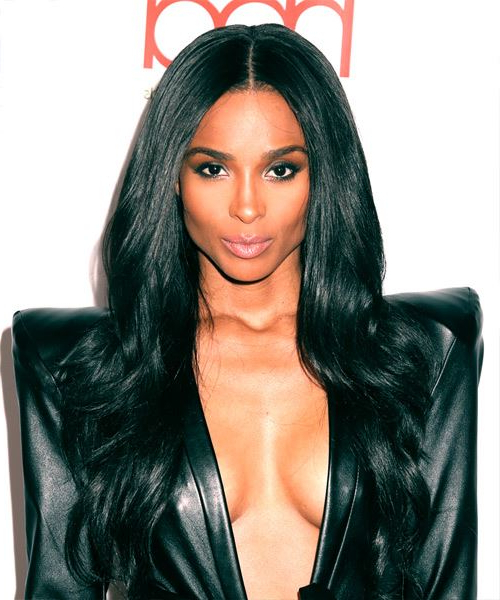 Ciara Formal Long Straight Hairstyle With Layered Bangs – Black Hair For Ciara Long Hairstyles (View 18 of 25)