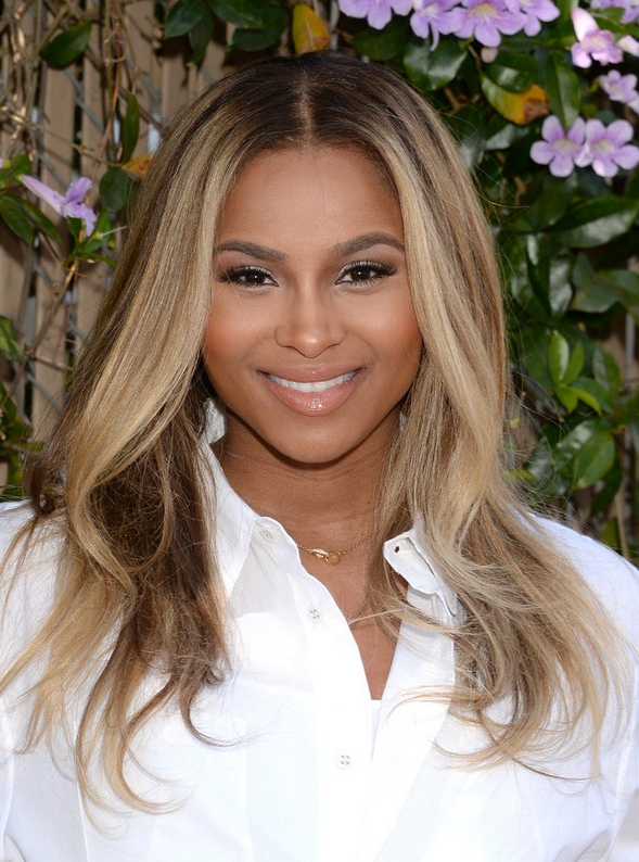 Ciara Long Center Parted Long Ombre Hairstyle With Waves For Black Regarding Ciara Long Hairstyles (View 12 of 25)