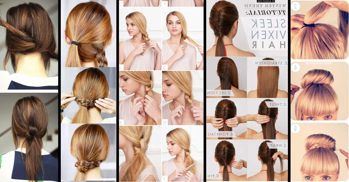 Classy To Cute: 25+ Easy Hairstyles For Long Hair For 2017 regarding Updos For Long Thick Straight Hair