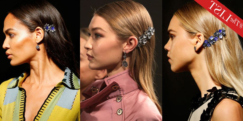 Coolest New Hair Accessories – Best Runway And Red Carpet Headbands Regarding Side Bun Prom Hairstyles With Jewelled Barrettes (View 15 of 25)