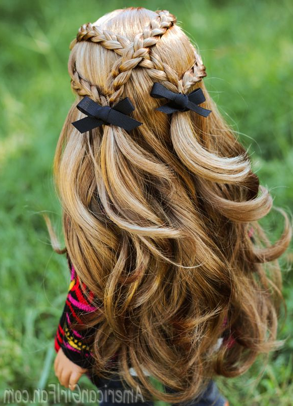 Criss Cross Braid Pigtails American Girl Doll Hairstyle! (Click In Cute Hairstyles For American Girl Dolls With Long Hair (View 11 of 25)