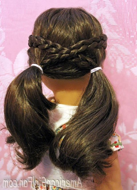 Cross Over Pigtails | Ag Doll Diy Crafts | Ag Doll Hairstyles Throughout Cute Hairstyles For American Girl Dolls With Long Hair (View 3 of 25)