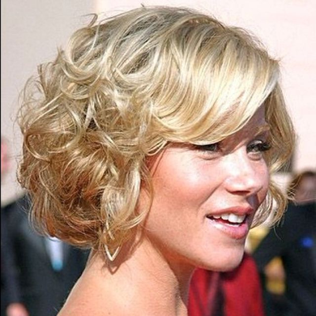 Curly Bob With Side Swept Bangs | Hair Styles | Formal Hairstyles Intended For Side Swept Curls And Draped Bangs Hairstyles (View 3 of 25)