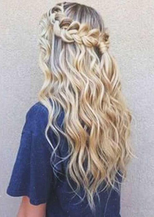Curly Hair Braid | Hair | Hair Styles, Curly Hair Styles, Hair With Regard To Cascading Curly Crown Braid Hairstyles (View 17 of 25)