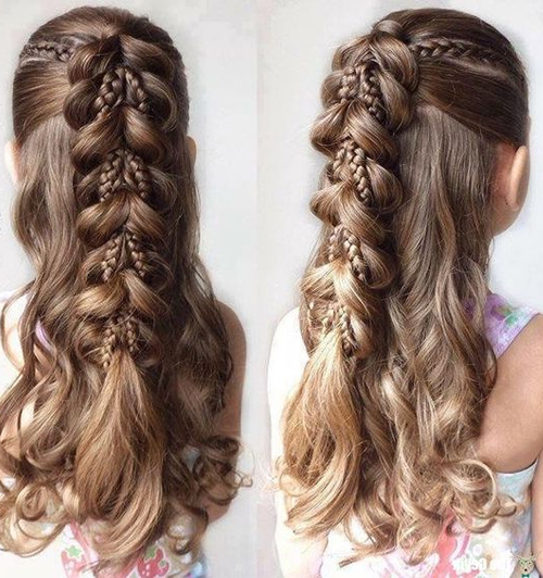 Cute Braided Hairstyles 2019 For Little Girls With Long Hair | Big Curse With Cute Braiding Hairstyles For Long Hair (View 11 of 25)