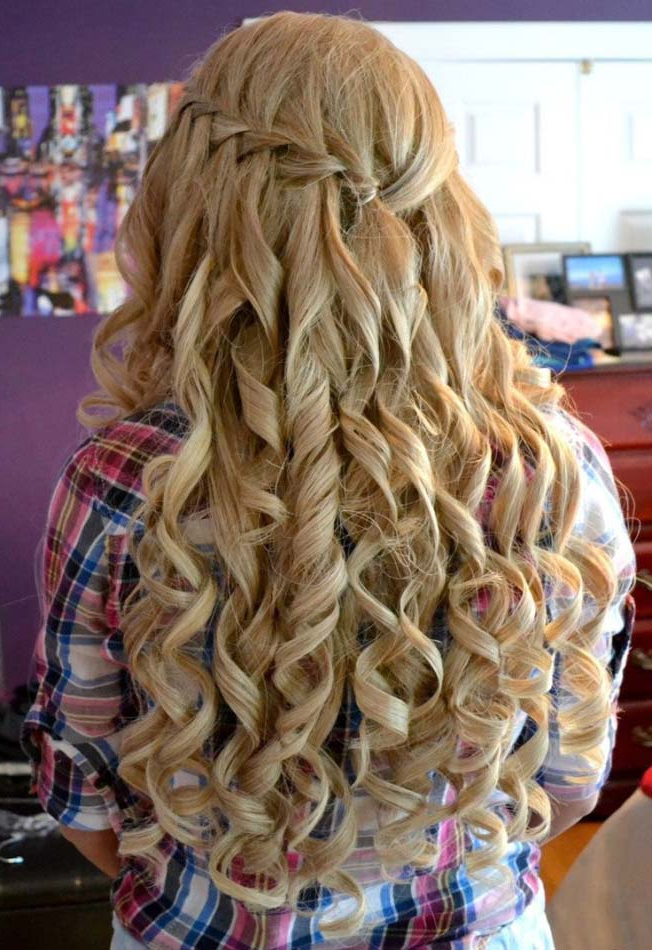 Cute Down Curly Long Hairstyles For Prom 2017 | Modren Villa Within Curly Long Hairstyles For Prom (View 25 of 25)