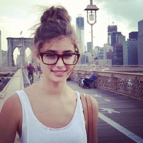 Cute Glasses & Bun - Hairstyles How To | Hair | Taylor Marie Hill pertaining to Long Hairstyles For Girls With Glasses