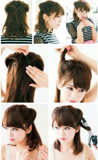 Cute Japanese Hairstyle. Might Be Easy To Try (View 2 of 25)