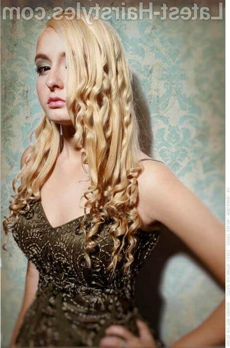 Cute Long Hairstyles For Prom #weave Hairstyles #waterfall #natural Pertaining To Cute Long Hairstyles For Prom (View 23 of 25)