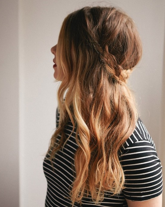 Cute Long Hairstyles: Half Down French Braid – Popular Haircuts For Down Long Hairstyles (View 13 of 25)