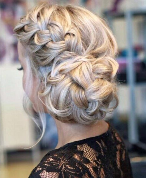 Featured Photo of Braid And Fluffy Bun Prom Hairstyles