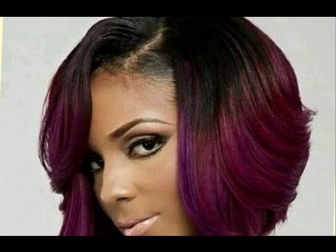 Cute Short Bob Haircuts For Black Women – Youtube Intended For Long Black Bob Haircuts (View 16 of 25)