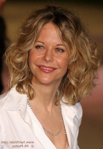 Cutting Techniques For Meg Ryan's Tousled Out Of Bed Look Inside Meg Ryan Long Hairstyles (View 24 of 25)