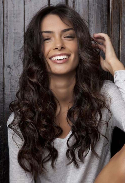 Dark Brown Hair With Highlights | Hair Highlights | Brown Hair Intended For Dark Brown Long Hairstyles (View 11 of 25)