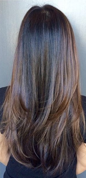 Dark Chocolate Brunette Highlights | Hair | Hair Styles, Brunette pertaining to Long Hairstyles With Layers And Highlights