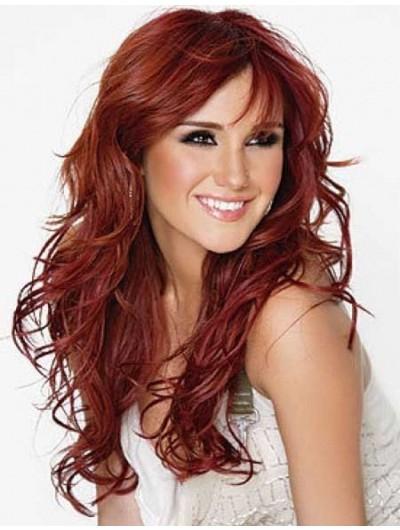 Dark Copper Hair Popular Long Hairstyles Wig, Shop Long Wigs with Dark Long Hairstyles