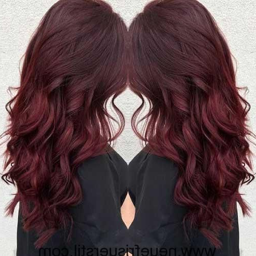 Dark Red Dyed Long Hair Pictures You'll Love #new Hairstyles 2018 intended for Long Hairstyles Dyed