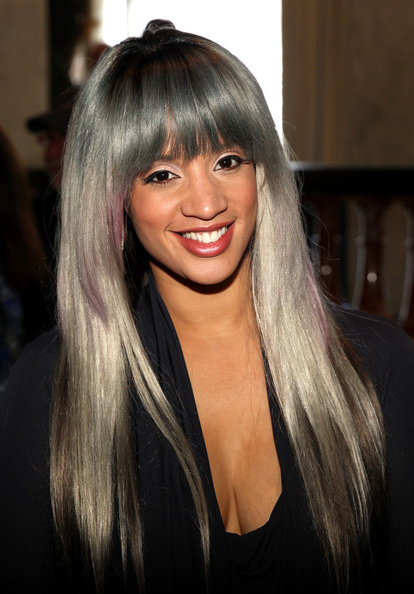 Dascha Polanco's Sleek Straight Tresses - The Best Haircuts For Gray throughout Sleek, Straight Tresses For Long Hairstyles