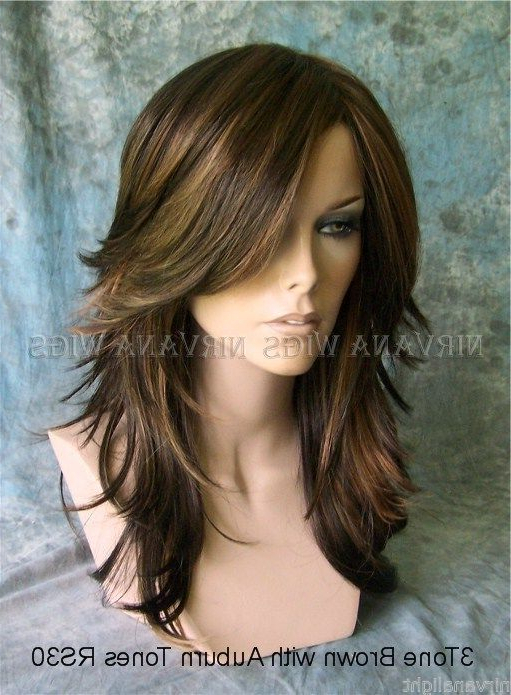 Details About Long Choppy Layers Nirvana Tarah Wig U Choose Colour within Choppy Layered Long Hairstyles