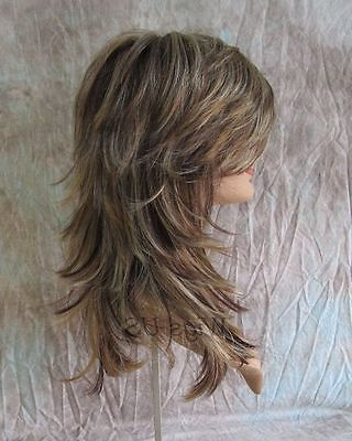 Details About Long Wig Choppy Layers Lots Of Motion Auburn, Ginger with regard to Shaggy Layered Haircuts For Long Hair