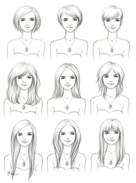 Different Hairstyles On A Slightly Square To Oval Face Shape in Long Hairstyles Oval Face Shape