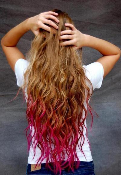 Dip Dyed Hair – Long Hairstyles How To Pertaining To Long Hairstyles Dip Dye (View 24 of 25)