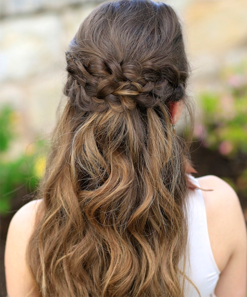 Double Braided Crown Long Prom Hairstyles 2016 | Full Dose intended for Double Braided Prom Updos