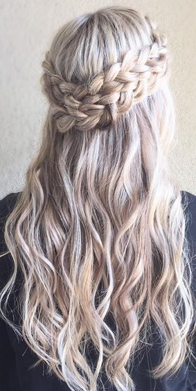 Double Crown Braid | Places To Visit | Hair Styles, Wedding throughout Double Crown Braid Prom Hairstyles