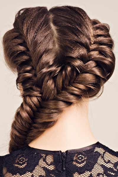 Double Fishtail Braid For Prom With Double Fishtail Braids For Prom (View 5 of 25)
