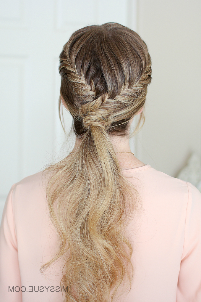 Double Fishtail Wrapped Ponytail | Missy Sue regarding Double Fishtail Braids For Prom