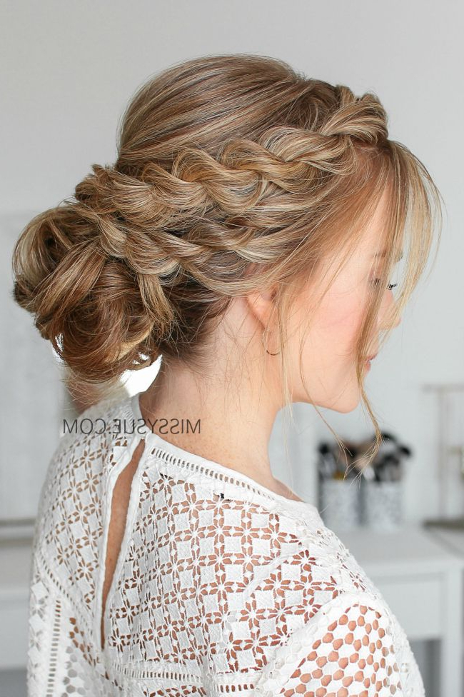 Double Twisted Low Bun | Braids | Prom Hair Bun, Low Bun Wedding Throughout Twisted Low Bun Hairstyles For Prom (View 10 of 25)