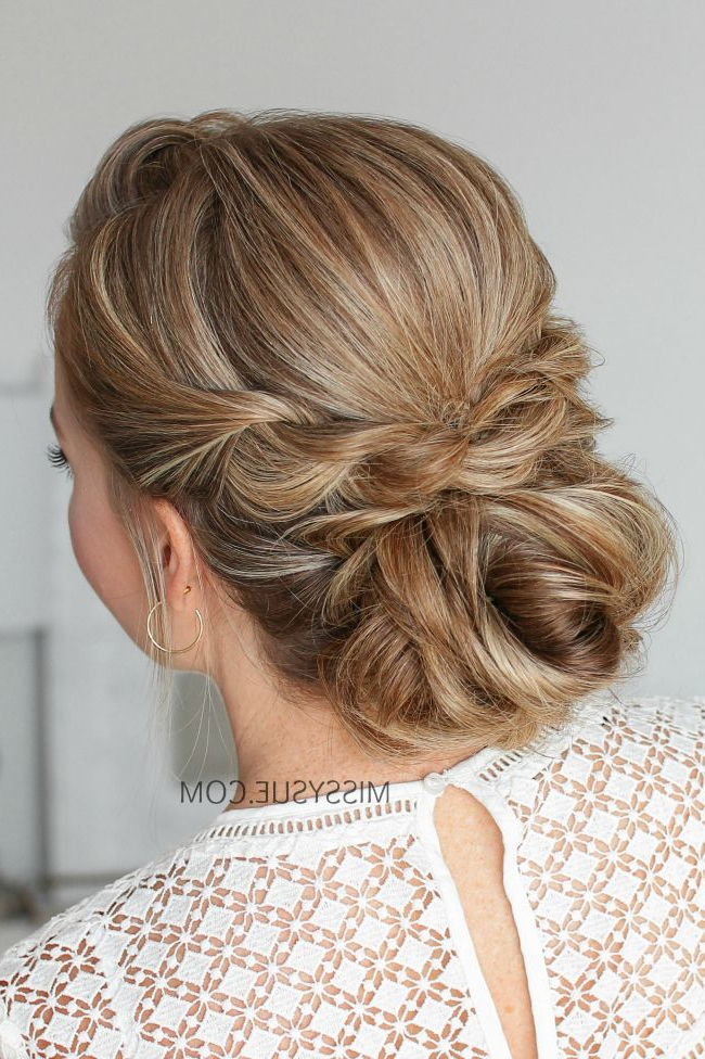 Double Twisted Low Bun | Hair | Prom Hair, Bun Hairstyles, Hair 2018 Regarding Twisted Low Bun Hairstyles For Prom (View 2 of 25)