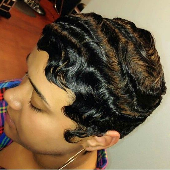 Dry Waves, Finger Waves, Short Hairstyles | Black Hairstyles In 2019 with Flowing Finger Waves Prom Hairstyles