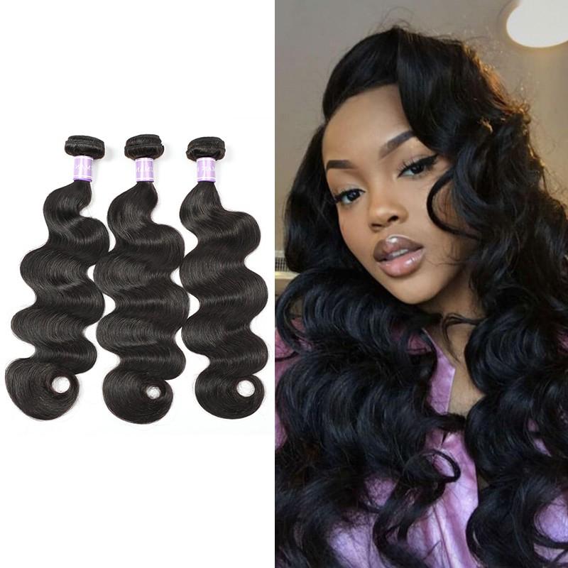 Dsoar 3 Bundles Indian Virgin Hair Body Wave Weave Hairstyles regarding Long Virgin Hairstyles