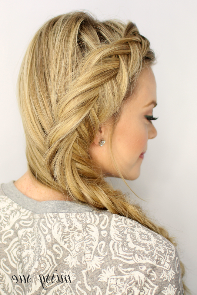 Dutch Fishtail Braid For Formal Dutch Fishtail Prom Updos (View 10 of 25)