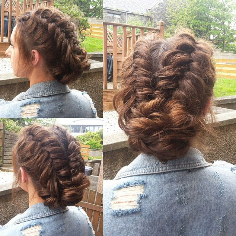 Dutch Fishtail Updo | Hair In 2019 | Prom Hair Updo, Short Hair Updo throughout Formal Dutch Fishtail Prom Updos