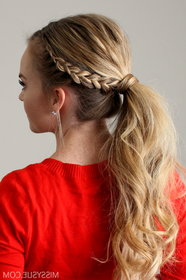 Dutch Lace Braid Ponytail | Braid Crown | Ponytail Hairstyles, Hair With Regard To Textured Side Braid And Ponytail Prom Hairstyles (View 16 of 25)