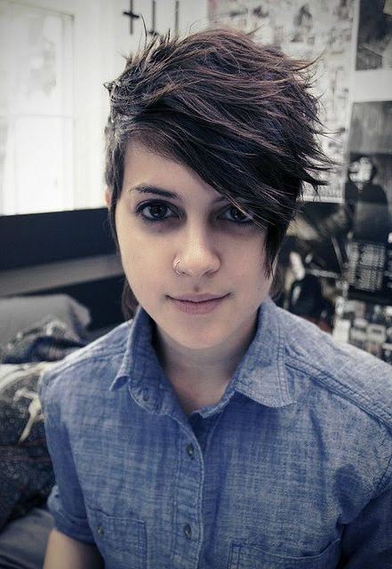 Dyke Lesbian : Like How She Has Her Hair Like That #cute | Tomboy within Long Queer Hairstyles