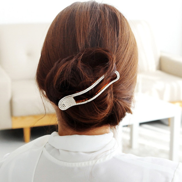 Dynamic Hairpins Thick Hair Clips Arched Barrettes Hairgrip Hair in Hair Clips For Thick Long Hairstyles