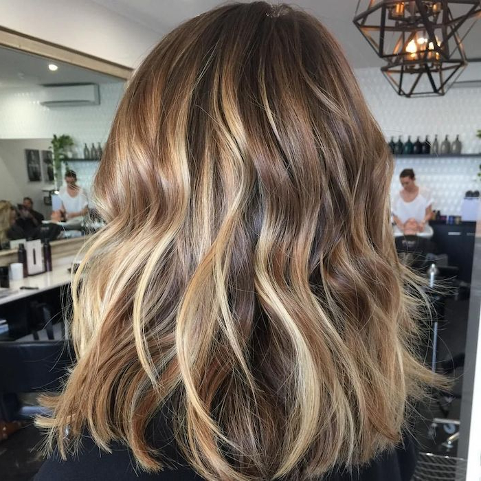 ?1001 + Ideas For Brown Hair With Blonde Highlights Or Balayage Within Curly Golden Brown Balayage Long Hairstyles (View 22 of 25)