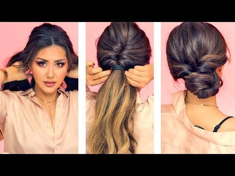 ? 1 Min Everyday Hairstyles For Work! ? With Puff ? Easy Braids Within Long Hairstyles Easy And Quick (View 25 of 25)
